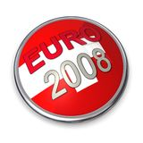 Euro 2008 Championship Button 2. Football style textured button 3D Stock Image