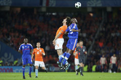 Euro 2008 - France v. Netherlands Royalty Free Stock Images