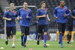 Euro 2008 -  Netherlands Training Session Royalty Free Stock Photos