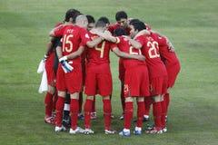 Euro 2008 - Portugal v. Duitsland 19 Juni, 2008 Stock Afbeelding