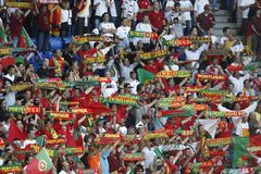 Euro 2008 - Portugal v. Germany June 19, 2008 Royalty Free Stock Images