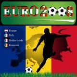 Euro 2008 Roemenië Royalty-vrije Illustratie