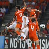 Euro 2008 - Russia v. Netherlands June 21, 2008 Royalty Free Stock Image