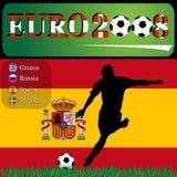 Euro 2008 Spanje Stock Illustratie