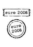 Euro 2008 Stamp. Vector illustration Stock Image