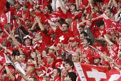 Euro 2008 - Switzerland v. Turkey Stock Images