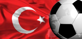 Euro 2008 - turkey Royalty Free Stock Photography