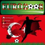 Euro 2008 Turkije Royalty-vrije Illustratie