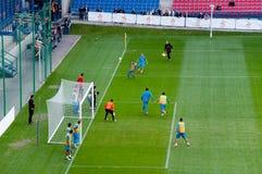 EURO 2012 - équipe des Hollandes Photographie stock libre de droits