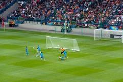 EURO 2012 - équipe des Hollandes Photos libres de droits