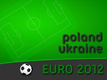 EURO 2012. Background. European football tournament will be played in Poland and Ukraine Royalty Free Stock Photo