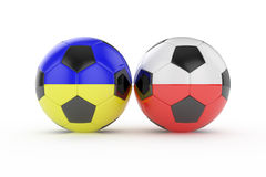 Euro 2012. 3d render of two football euro 2012 on white background Stock Images