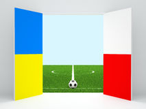 Euro 2012. Open doors on stadium with a ball. An illustration to the European championship on football Stock Images