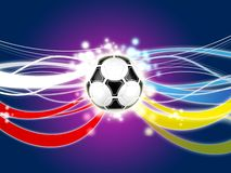 Euro 2012 background. Poland ukraine Stock Images