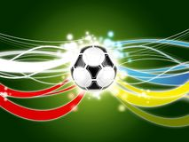 Euro 2012 background green. Poland ukraine Stock Photography