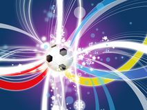 Euro 2012 background poland ukraine Royalty Free Stock Photo