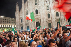 Euro 2012 - Celebración italiana fotografía de archivo