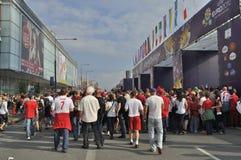 EURO 2012 da zona do ventilador Imagem de Stock