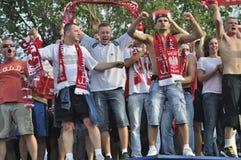 EURO 2012 da zona do ventilador Fotos de Stock