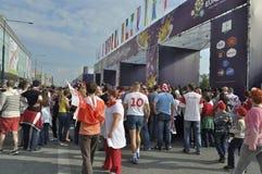 EURO 2012 da zona do ventilador Imagens de Stock