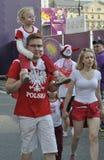 EURO 2012 da zona do ventilador Fotografia de Stock Royalty Free