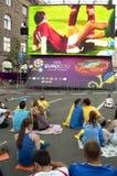 EURO 2012 de la zona del ventilador en Kiev Imagenes de archivo