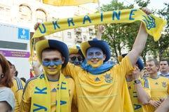 EURO 2012 de zone de ventilateur à Kiev Images stock