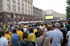 EURO 2012 de zone de ventilateur à Kiev Photographie stock libre de droits