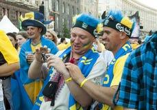 EURO 2012 de zone de ventilateur Photos libres de droits