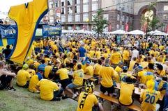 EURO 2012 de zone de ventilateur Image stock
