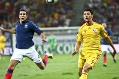 Euro 2012 die om (Groep D) kwalificeert Roemenië-Frankrijk Stock Afbeeldingen
