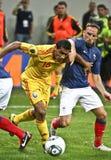 Euro 2012 die om (Groep D) kwalificeert Roemenië-Frankrijk Royalty-vrije Stock Foto's