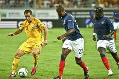 Euro 2012 die om (Groep D) kwalificeert Roemenië-Frankrijk Royalty-vrije Stock Fotografie