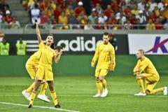 Euro 2012 die om (Groep D) kwalificeert Roemenië-Frankrijk Royalty-vrije Stock Afbeelding