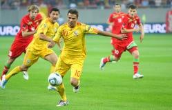 Euro 2012 die om Roemenië-Wit-Rusland kwalificeert Stock Foto's