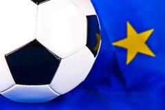 Euro 2012 et bille de football Photos stock