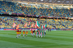 Euro 2012 final in kiev, Ukraine Stock Photography