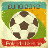 Euro 2012 football card. In retro style - illustration vector illustration
