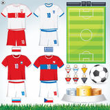Euro 2012 Group A. Soccer Collection. Euro 2012 Group A. Abstract National Football Uniform with Variety Objects Stock Photos