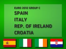 Euro 2012 Group C. UEFA Euro 2012 Group C: Spain, Italy, Republic of Ireland, Croatia. Ready to use illustration Stock Images