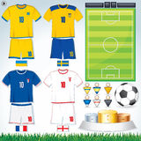 Euro 2012 Group D. Soccer Vector Collection. Euro 2012 Group D Stock Images