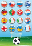 Euro 2012 Group Flags Stock Images
