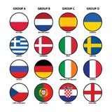 Euro 2012 groups Royalty Free Stock Photography