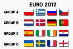 Euro 2012 grupy ilustracji