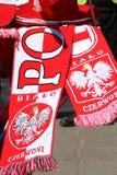 Euro 2012 insegne dei ventilatori Fotografie Stock Libere da Diritti