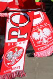 Euro 2012 insignes de ventilateurs Photos libres de droits