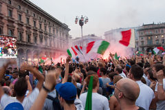 Euro 2012 - Italian celebration Stock Photos