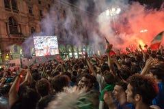 Euro 2012 - Italian celebration Royalty Free Stock Photo