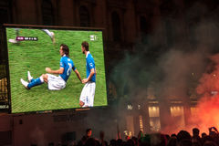 Euro 2012 - Italian celebration Stock Images