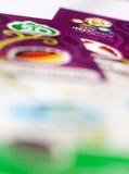 EURO 2012 Karten Lizenzfreie Stockbilder